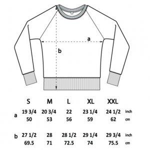 measurements sweater